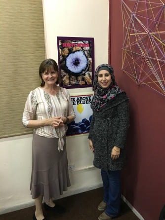 2016-3-2 Sireen and Sandra with posters